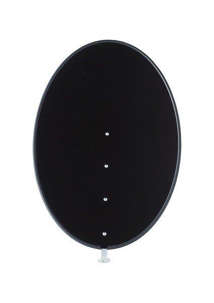 Shade Only - Jet Black - Frosted Acrylic Plastic - Gloss Finish on One Side