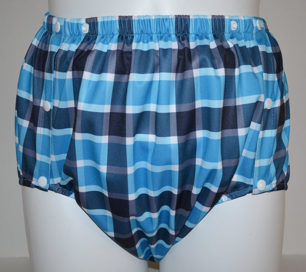 PUL Snap-On Pant - Blue Plaid
