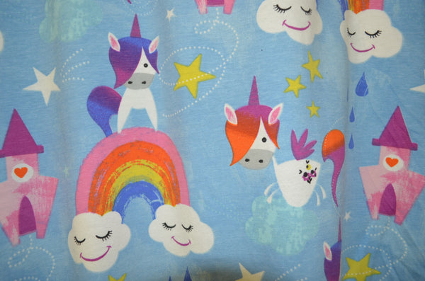 Bodysuit - Blue Unicorn Rainbows