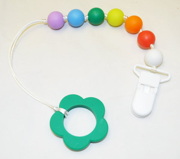 Silicone Pacifier Clip/Teether - Flower