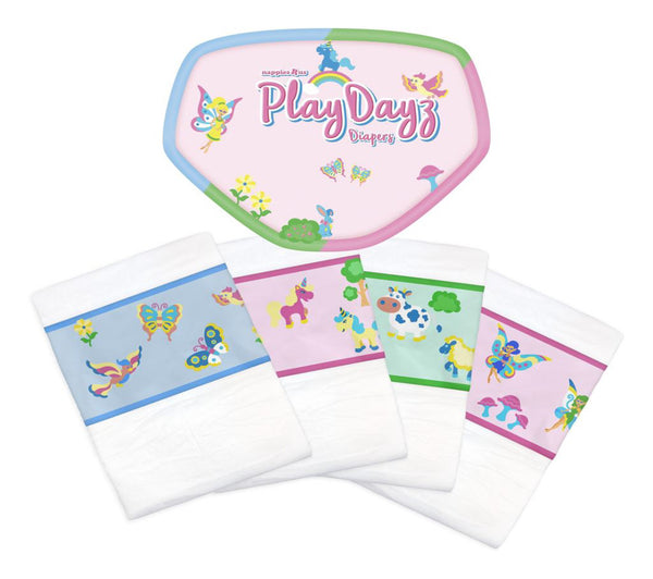 Disposable Diaper - Nappies R Us Play Dayz Pink - 2