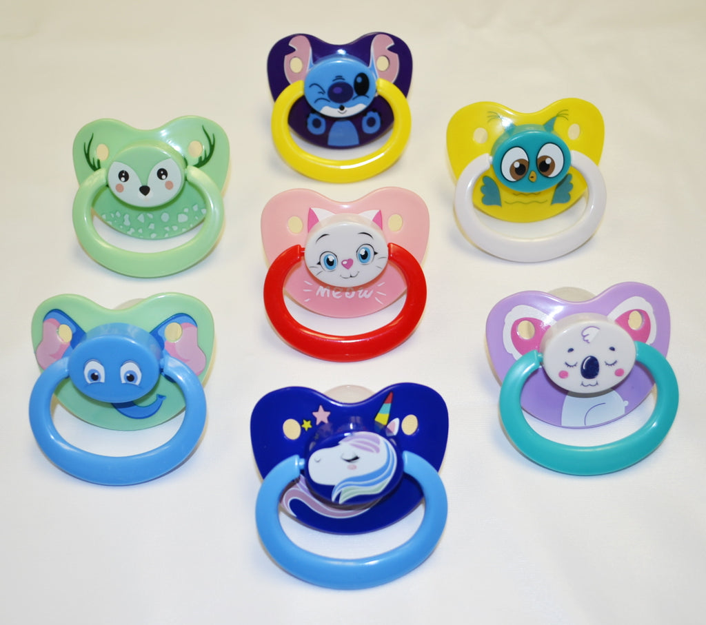 Adult Print Pacifiers - Size 6
