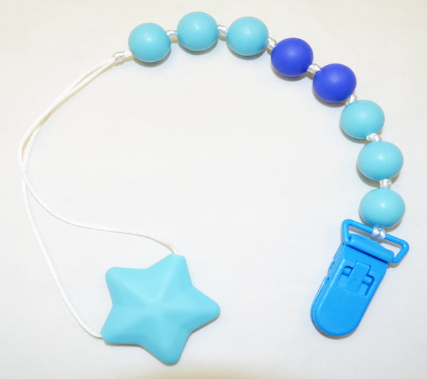 Silicone Pacifier Clip/Teether - Star