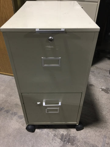 Rolling 2-Drawing Filing Cabinet #50033