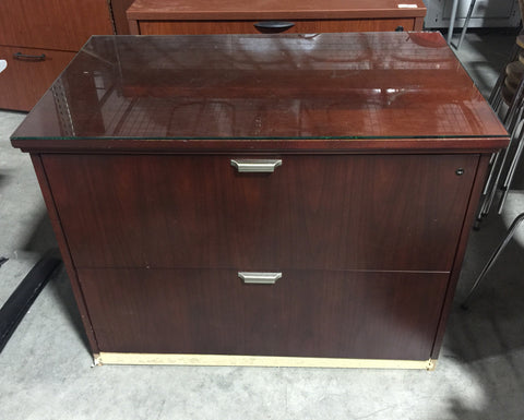 Two-Drawer Wood File Cabinet #50491