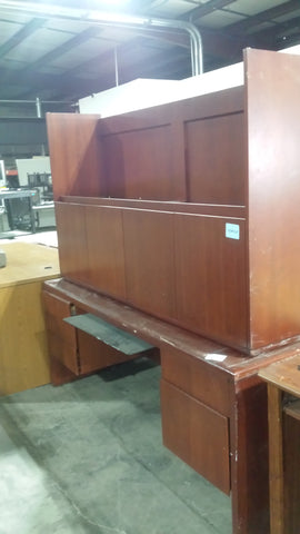 Wood Desk  W/Hutch #50692