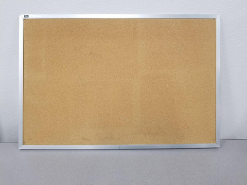 Standard Cork board with Silver Trim