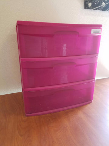 Plastic 3 Drawer Cart