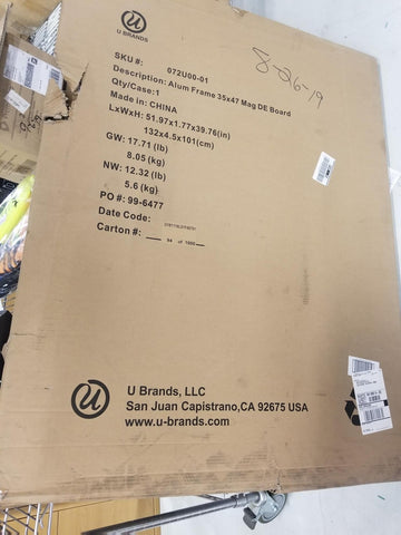 Whiteboard 35 x 47 New in Box