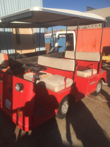 TAYLOR DUNN ELECTRIC CART PREVIOUSLY SURPLUS CART, BOUGHT BY TMC INSTATED B