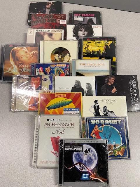 Various CDs including the Doors, No Doubt. Led Zepplin, E.T. Soundtrack and others