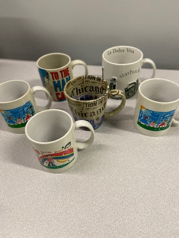 Various Novelty Coffee Mugs
