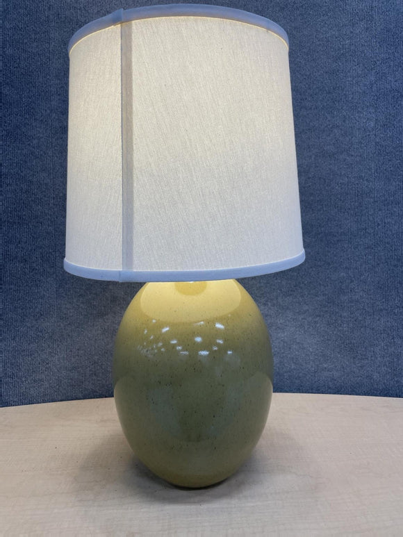 Green lamp with shade