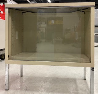Small Metal/Glass Door Cabinet
