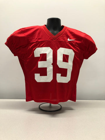 Red Nike Mesh Numbered Football Practice Jerseys - S,M,L