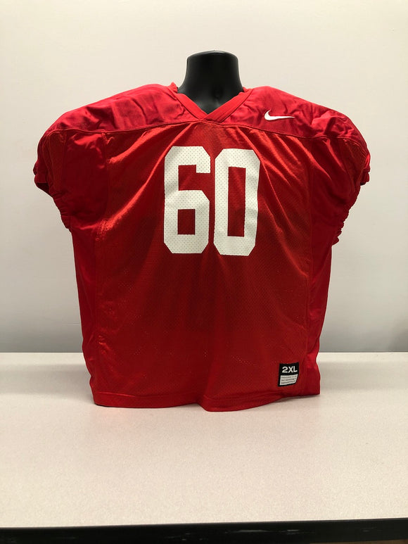 Red Nike Mesh Numbered Football Practice Jerseys - XL,2XL