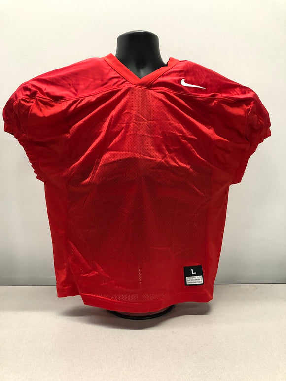 Red Nike Mesh Football Practice Jerseys - Various Sizes