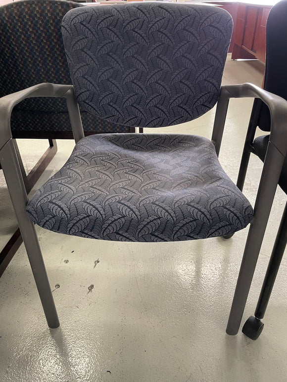 Gray Pattern Cloth/Metal Chair