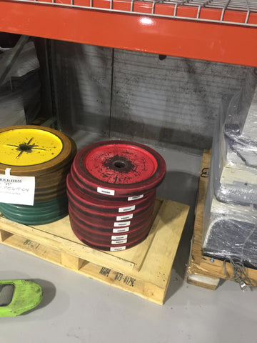 25 Pound Yellow Bumper Weight Plates