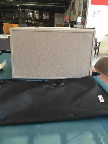 Plastic Trifold in carrying case