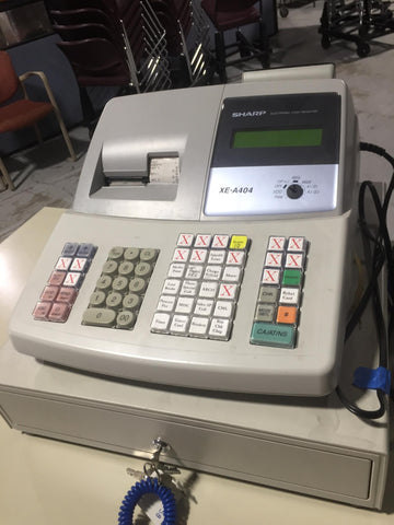 sharpe xe a 404 cash register