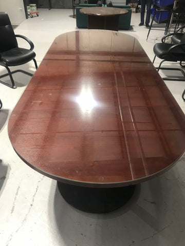 LARGE WOOD CONFERENCE TABLE