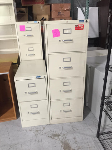 1 four drawer file cabinet