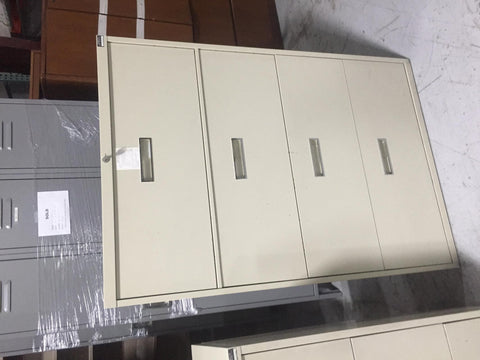 (2) four drawer filing cabinets