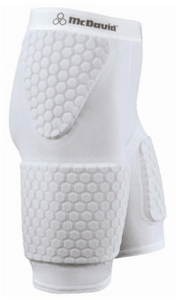 MCDAVID HEXPAD THUDD SHORT WITH EXTENDED THIGH #7580 White NEW