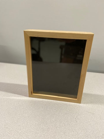 Light blonde wood shadow box frame