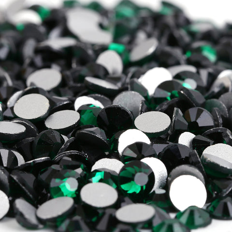 Emerald Glass Crystal Non HotFix Rhinestones