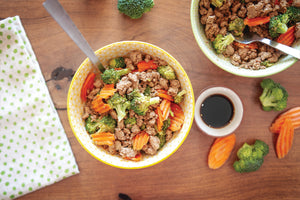 ASIAN GROUND TURKEY STIR FRY