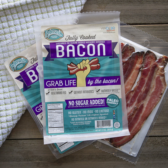 Fully Cooked No Sugar Bacon - Retail Pack