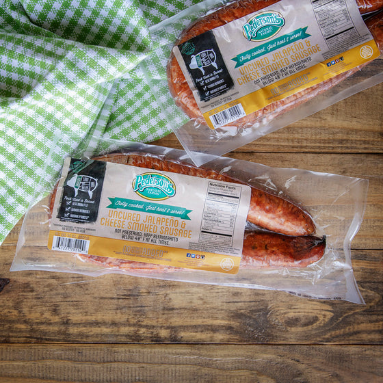 Uncured Jalapeno & Cheese Smoked Sausage *CONTAINS SUGAR*