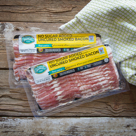 Non GMO Project Verified, Uncured No Sugar Bacon