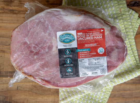 Individual Uncured No Sugar Half Ham - Spiral Sliced, Bone In