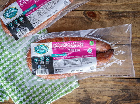 No Sugar Smoked Sausage - Non GMO Project Verified