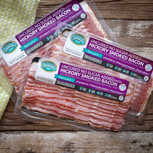 Case of Uncured No Sugar Added Hickory Smoked Bacon (16 Packages)