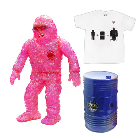 VINART SUPREME Oily Maniac Collectible Set - Figurine & T-shirt - WHITE