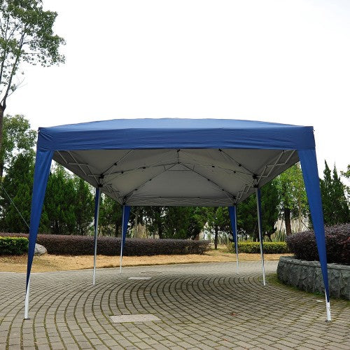 10x20 ft Pop Up Wedding Party Canopy Tent [Without Walls] - Blue