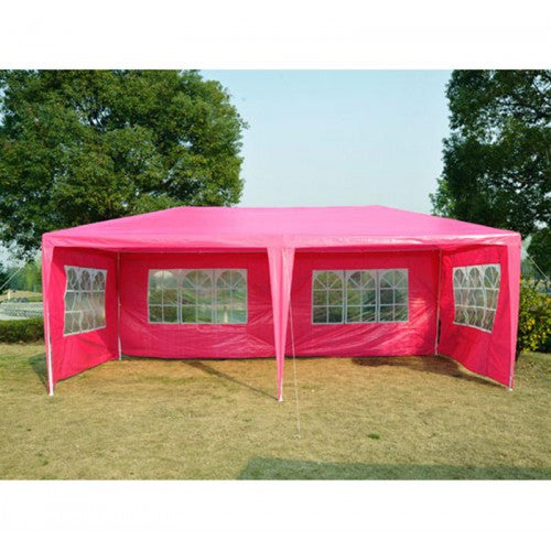 10'x20'ft Party Tent Gazebo Canopy with 4 Removable Walls - Pink