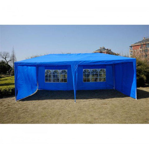 10x20 ft Party Tent Gazebo Canopy with 4 Removable Walls - Blue