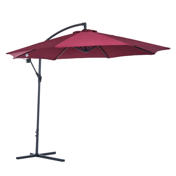 10' Hanging Patio Garden Umbrella - Wine Red