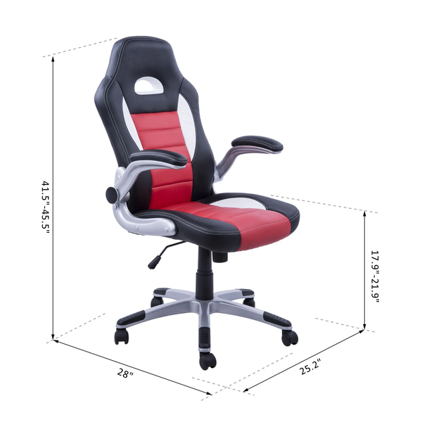Gaming Computer Home Office Chair - Red and Black