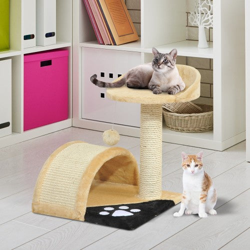"17"" Cat Tree Scratching Post - Beige"