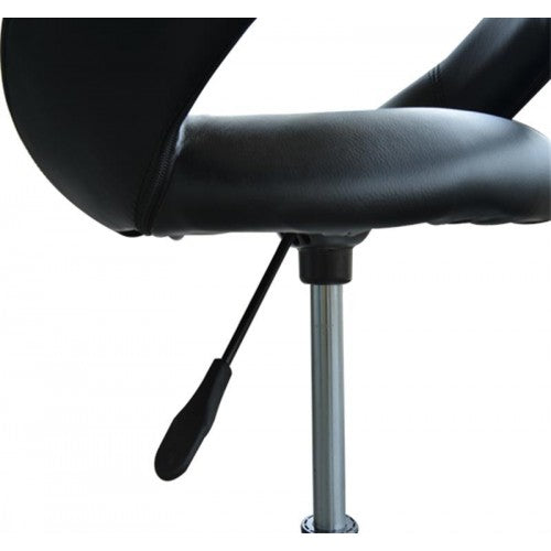Hydraulic Adjustable Rolling Massage Salon Spa Chair - Black