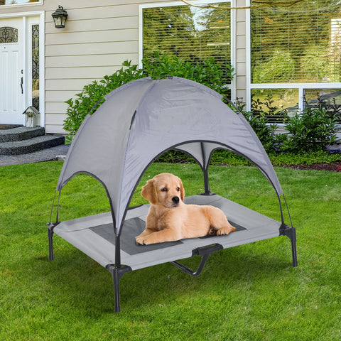 "Raised Pet Puppy Cot with Shade in a Bag - 36.2""L"