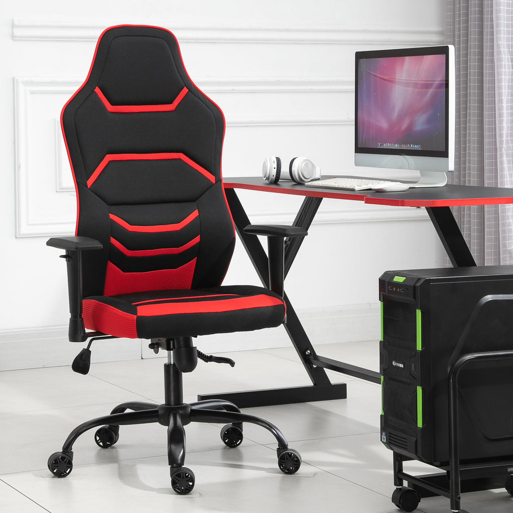 Adjustable High Back Gaming Home Office Chair - Red
