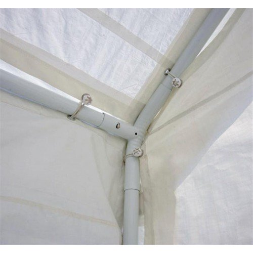 32x16 ft Large Steel Carport Canopy Tent with Removable Walls - White