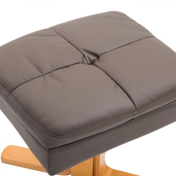 Leather Home Office Lounge Chair and Ottoman Set